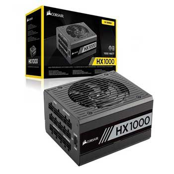 1000W CORSAIR HX1000 Platinum 80 Plus Platinum - Full Modul