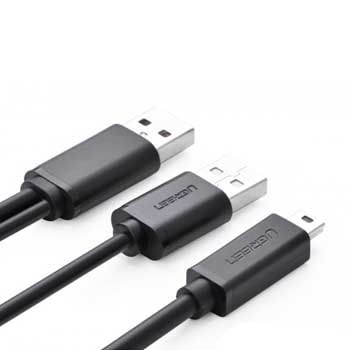 CABLE USB sang Mini USB Ugreen 10347 (có hỗ trợ nguồn) dài 1m