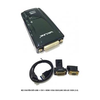 BỘ CHUYỂN ĐỔI USB MICRO-B (3.0) -> DVI + HDMI + VGA WAVLINK (WS-UG 35D6)