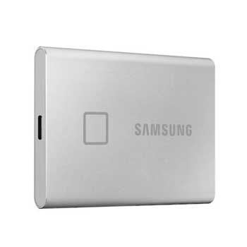 500GB Samsung T7 Touch - (MU-PC500S/WW- MÀU Silver ) - EXTERNAL