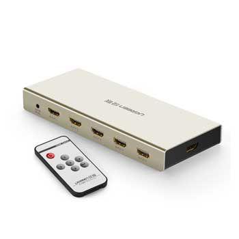 Bộ gộp HDMI 5 vào 1 ra Ugreen 40279 (Hỗ trợ 4K 2K, 3D , Full HD)