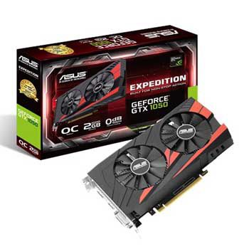 2GB ASUS EX-GTX1050-O2G (2 Fan)