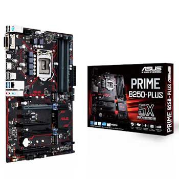 ASUS PRIME B250-PLUS (SK1151) Asus 5X Protection III On-board 3D-printing
