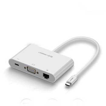 CABLE USB-C to VGA/ Ethernet/ Hub USB UGREEN 30439