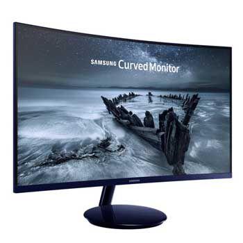 """LCD 27"""" SAMSUNG LC27H580FDEXXV (Full Viền) (Xanh đen pha lê)"""