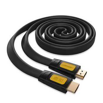 Cáp HDMI dẹt dài 10m Ugreen 11183 (hỗ trợ Ethernet 3D FullHD)
