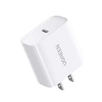Cốc sạc nhanh USB Type-C 18W Ugreen 60449 (Màu trắng) (Hỗ trợ sạc iPhone XS Max)