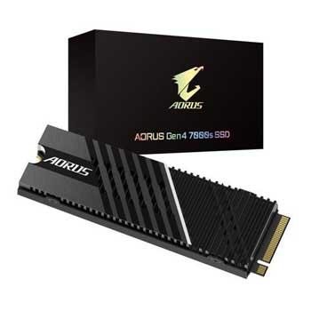 1TB Gigabyte AORUS Heatsink M.2-2280 PCIe NVMe Gen 4x4 (GP-AG70S1TB)