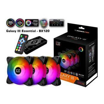 Fan Case Xigmatek GALAXY III ESSENTIAL BX120 (3 Fan + controller)