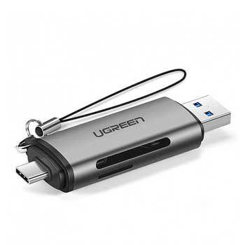 Đầu đọc thẻ SD/TF chuẩn USB Type-C/USB 3.0 Ugreen 50706 (Màu xám)