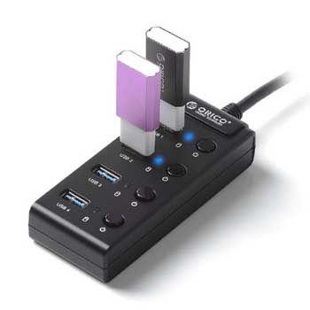 HUB USB 1–4 PORT ORICO W9PH4
